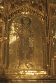 San Marco interior - figure on Pala d'Oro