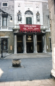 Front of the Fenice Theatre