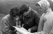 Pam, Bill and Helen map reading