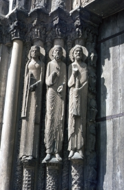 Figures by the West Door