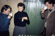 Susan, Margaret and Wal at Youth Hostel