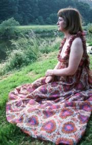 Greta in Jean Varon dress