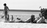 Young lady sunbathing