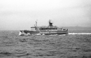 Ferry in rough sea