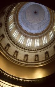 Interior of the dome of Basilica of Notre-Dame de Boulogne