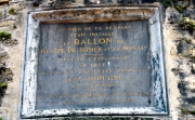Plaque commemmorating early balloon flight