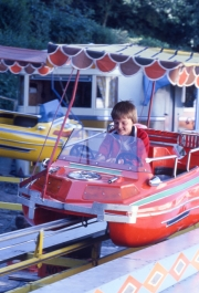 Simon on fairground ride