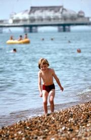 Simon on the beach