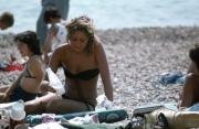 French girls, black bikini