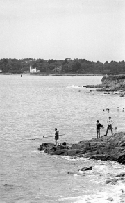 Fishing at Point St Gilles