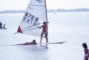 Windsurfer and passenger