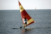 Windsurfer and dog