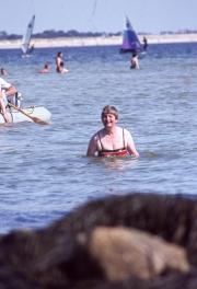 Greta in the sea