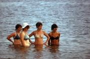 Four bikini girls