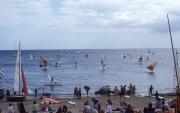 Benodet beach, with windsurfers