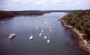 Rover Odet, upstream from Benodet bridge