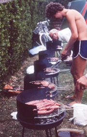 Eurocamp barbecue - cooking