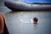 Greta floating