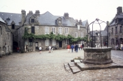 Locronan square and well