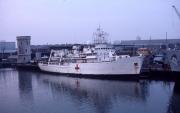 Hospital ship in harbour (post Falklands)