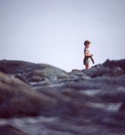 Child on rocks