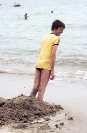 Simon leaning
