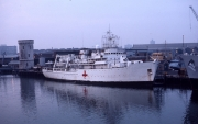 Hospital ship in harbour (post Falklands)
