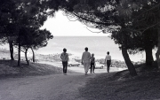 Walking down to the beach at Pointe St Gilles