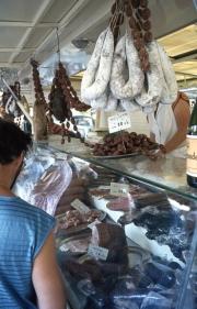 Benodet Market - charcuterie
