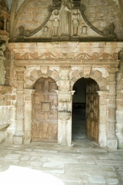 Guimiliau church doorway
