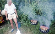 Evening barbecue, John Hunt