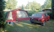 Our car and tent