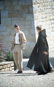 Monk at Abbaye St Anne de Kergonan
