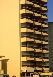 Apartments in the evening sun