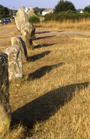 Les Alignements - stone with shadows