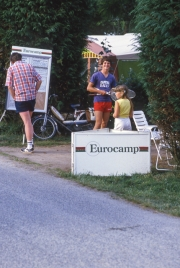 Eurocamp couriers' tent