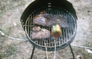 Steak on the barbecue