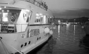 Yachts at dusk