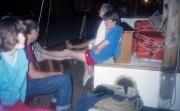 Simon and Greta on the boat back to Port Grimaud