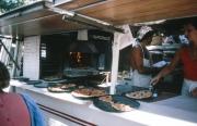 St Tropez market, pizza stall
