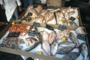 St Tropez market, fish stall
