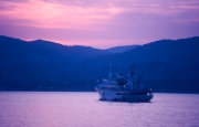 Atlantis 2 - Stavros Niarchos' yacht - at sunset