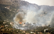 Fire in the hills above Monte Carlo