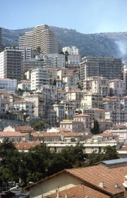 View of Monte Carlo apartment buildings