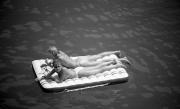 Couple on an air raft