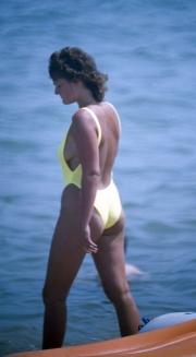 High-cut swimsuit