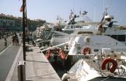 Quai J Jaures with yachts