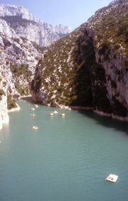 End of the Gorges, beginning of Lac de Ste Croix