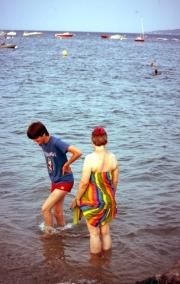 Simon and Greta paddling