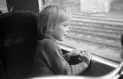 Simon on the train